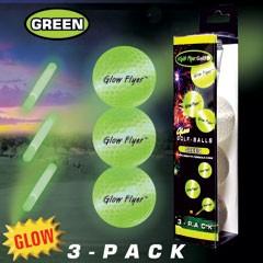 GLOW FLYER   GREEN GOLF BALLS   RETAIL 3-PACK