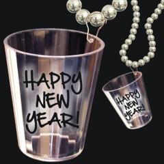 Happy New Year Shot Glass Beads