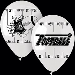 "Football Theme 14"" Latex Balloons"