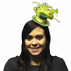 St. Patrick's Day  Feather Fascinator