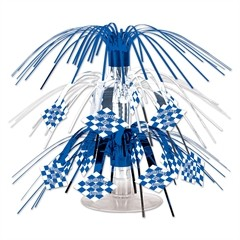 Blue and White Oktoberfest Centerpiece