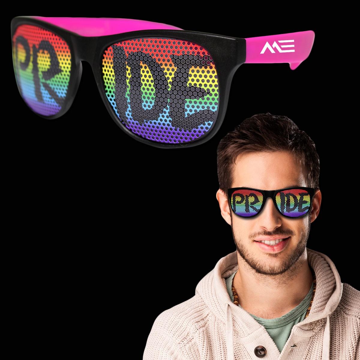 Rainbow Pride Neon Billboard Sunglasses