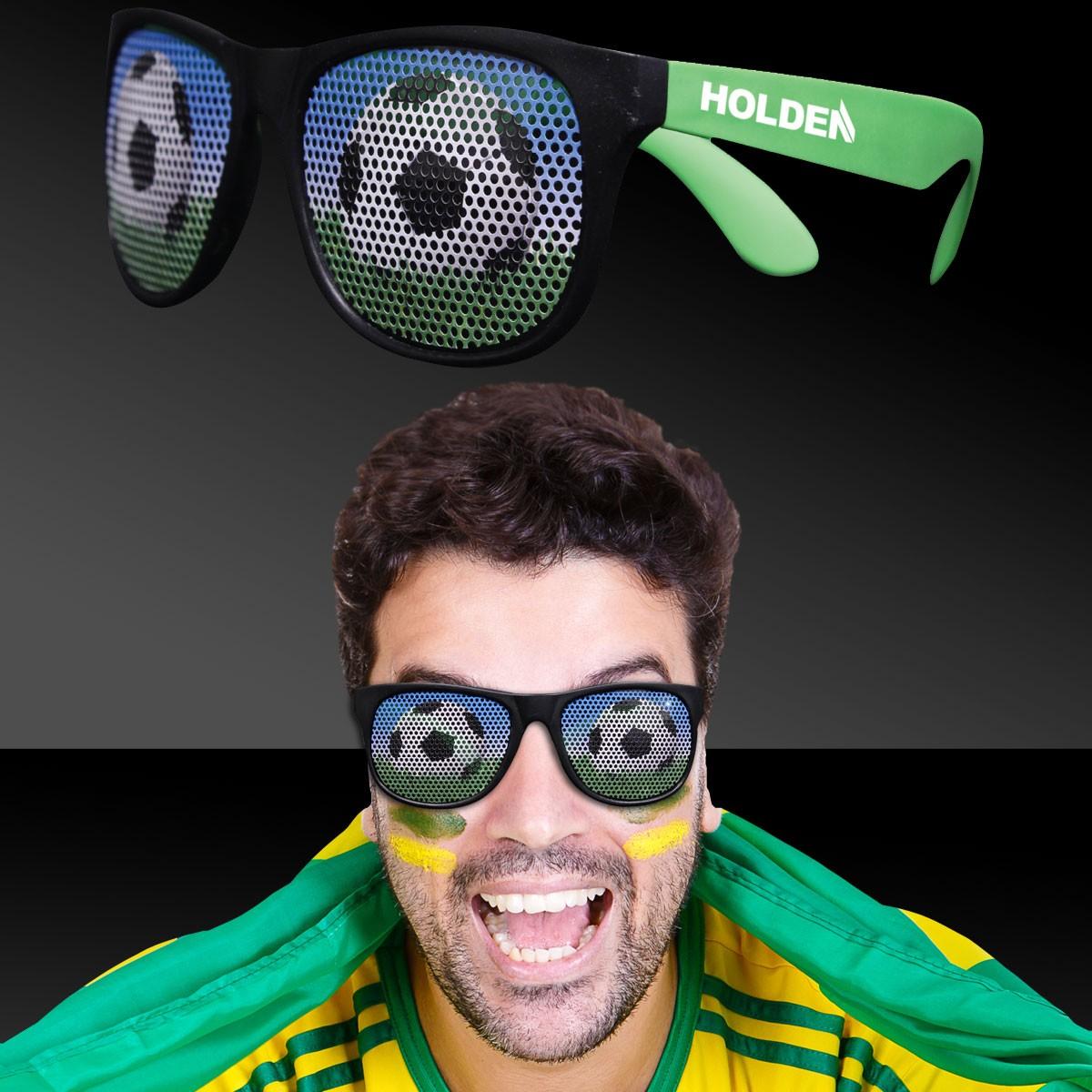 Soccer Neon Green  Billboard Sunglasses