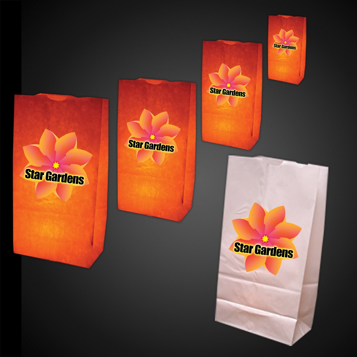 White Luminary Bags