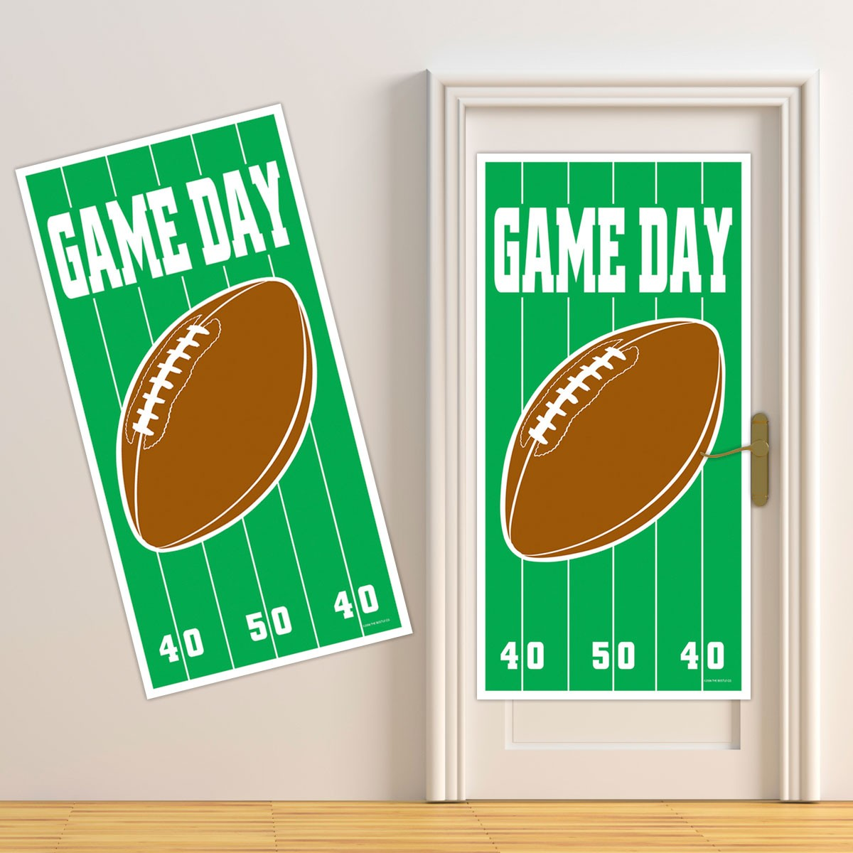 Football Game Day Door Cover