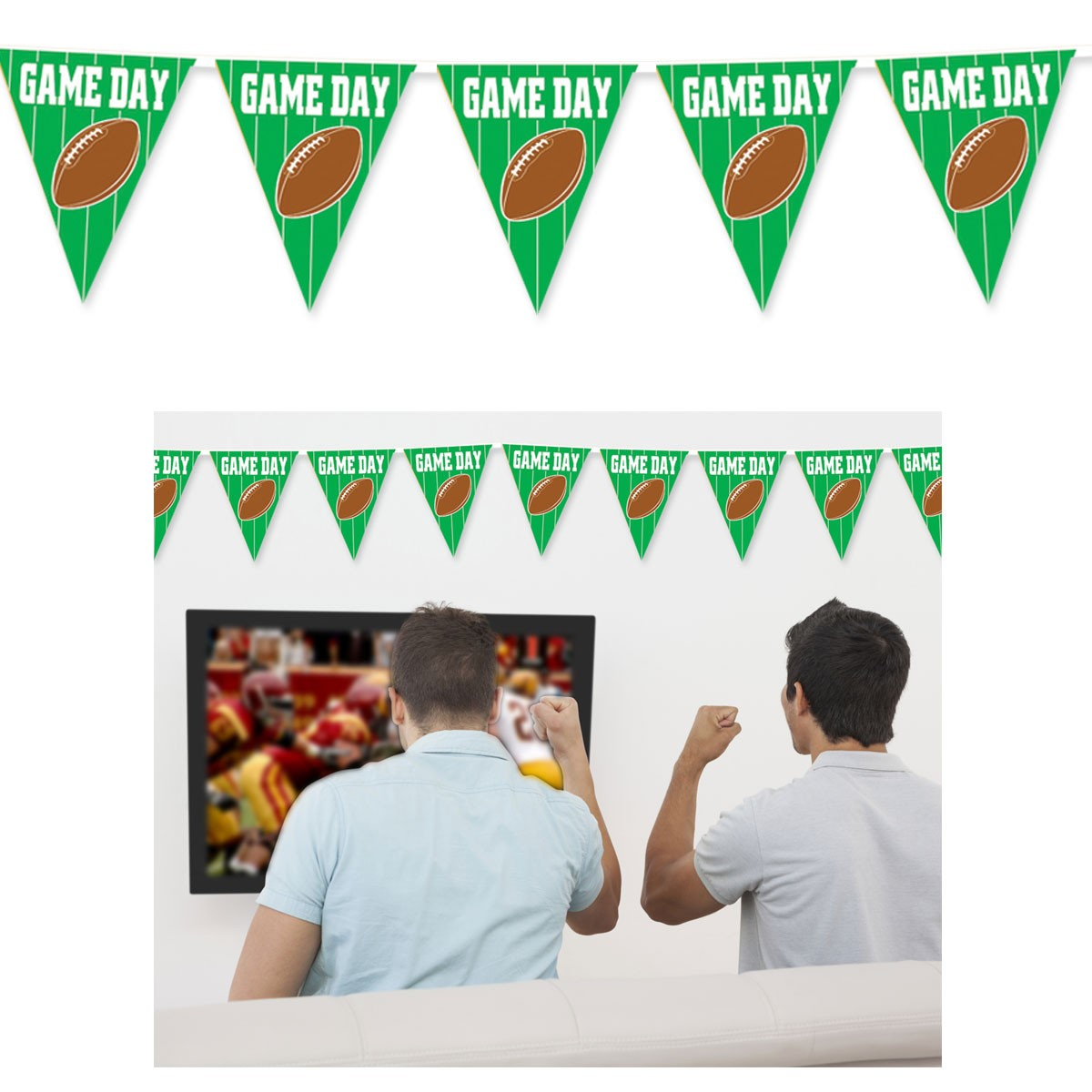 Game Day 12' Pennant Banner