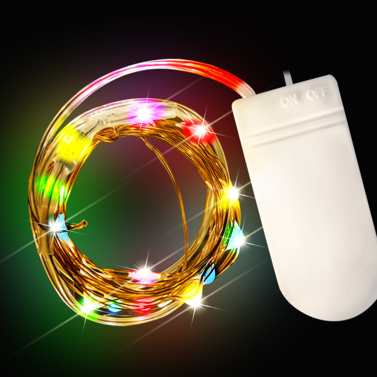 Starlight Led String Lights : Multi Color LED String Lights - Light Up Novelties
