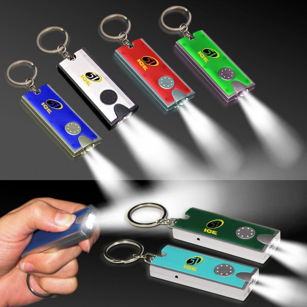 Rectangle Light Up Key Chain
