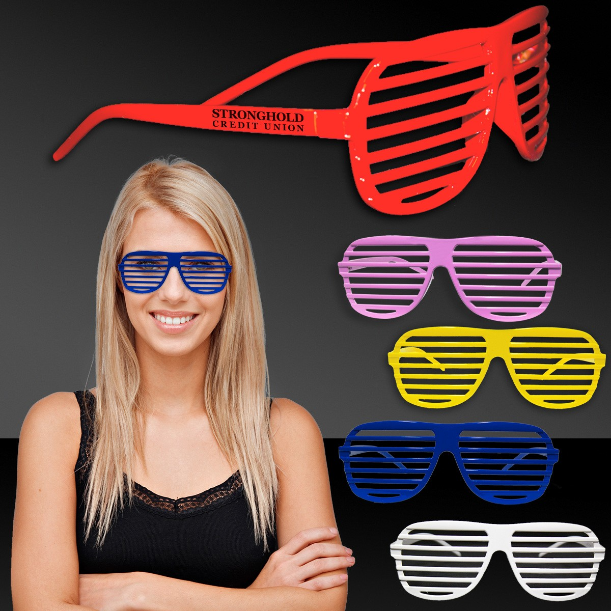 Assorted Color Slotted Shutter Glasses