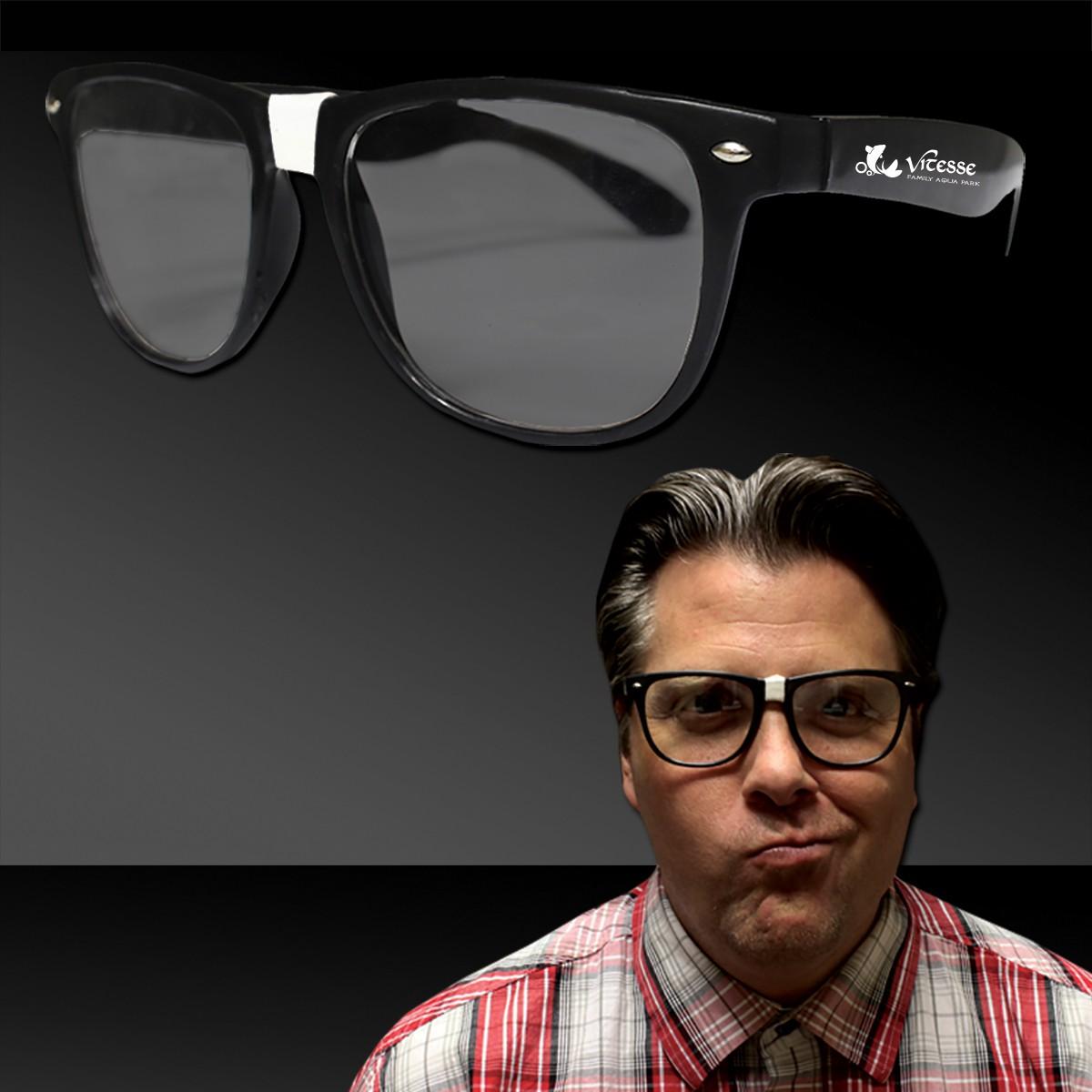 Black Frame Nerd Eyeglasses