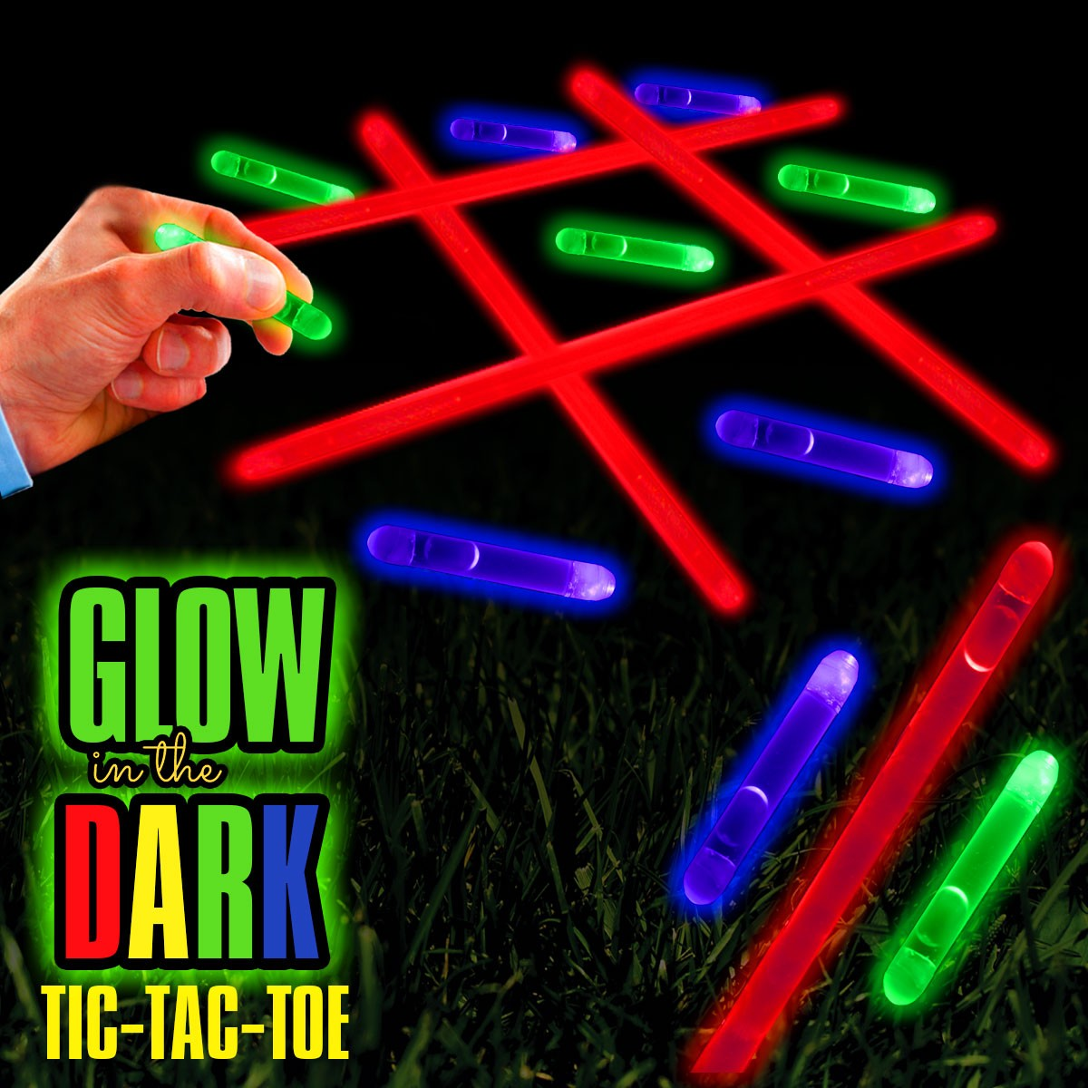 Glow in the Dark Tic Tac Toe Kit