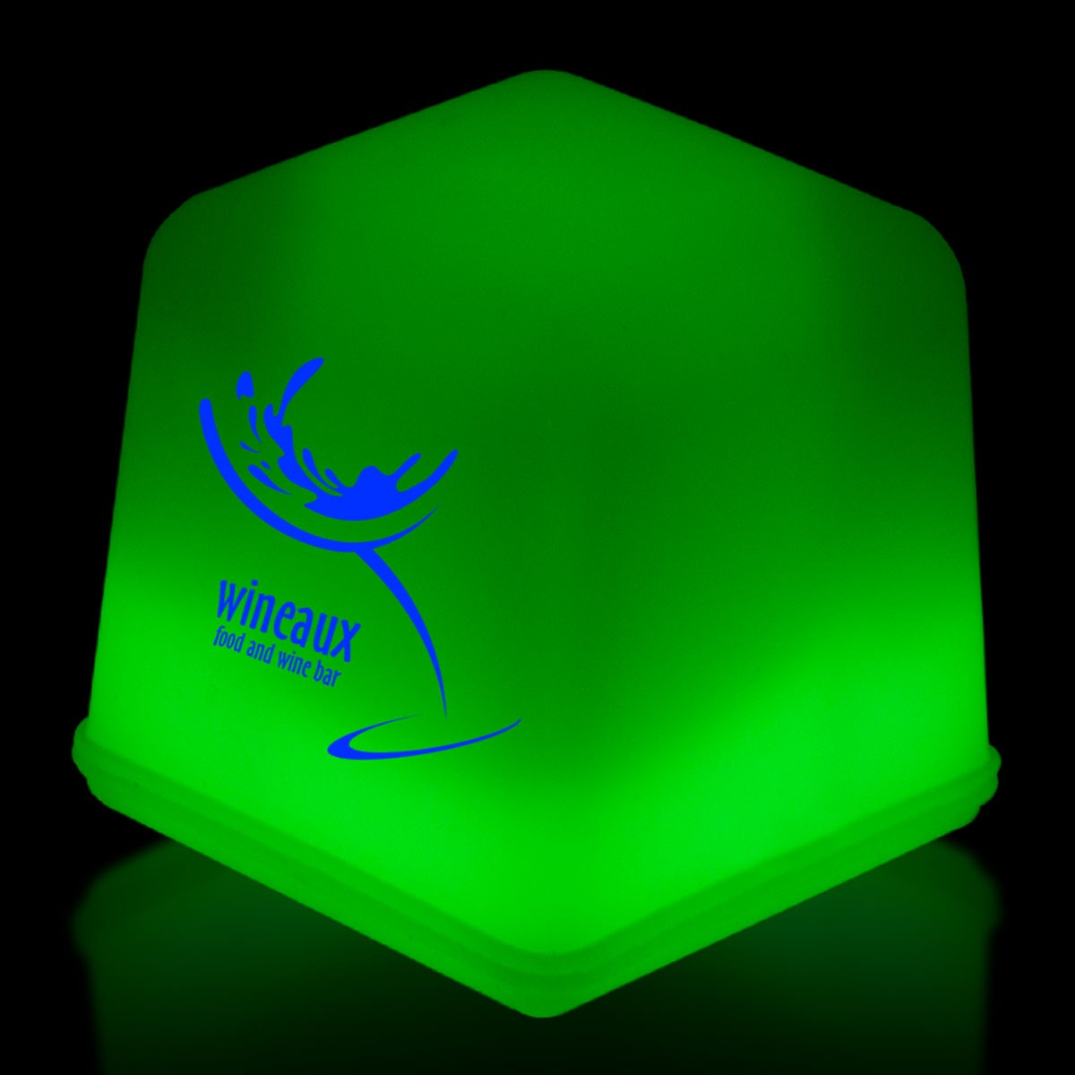 1 green glowing ice cubes green shop by color