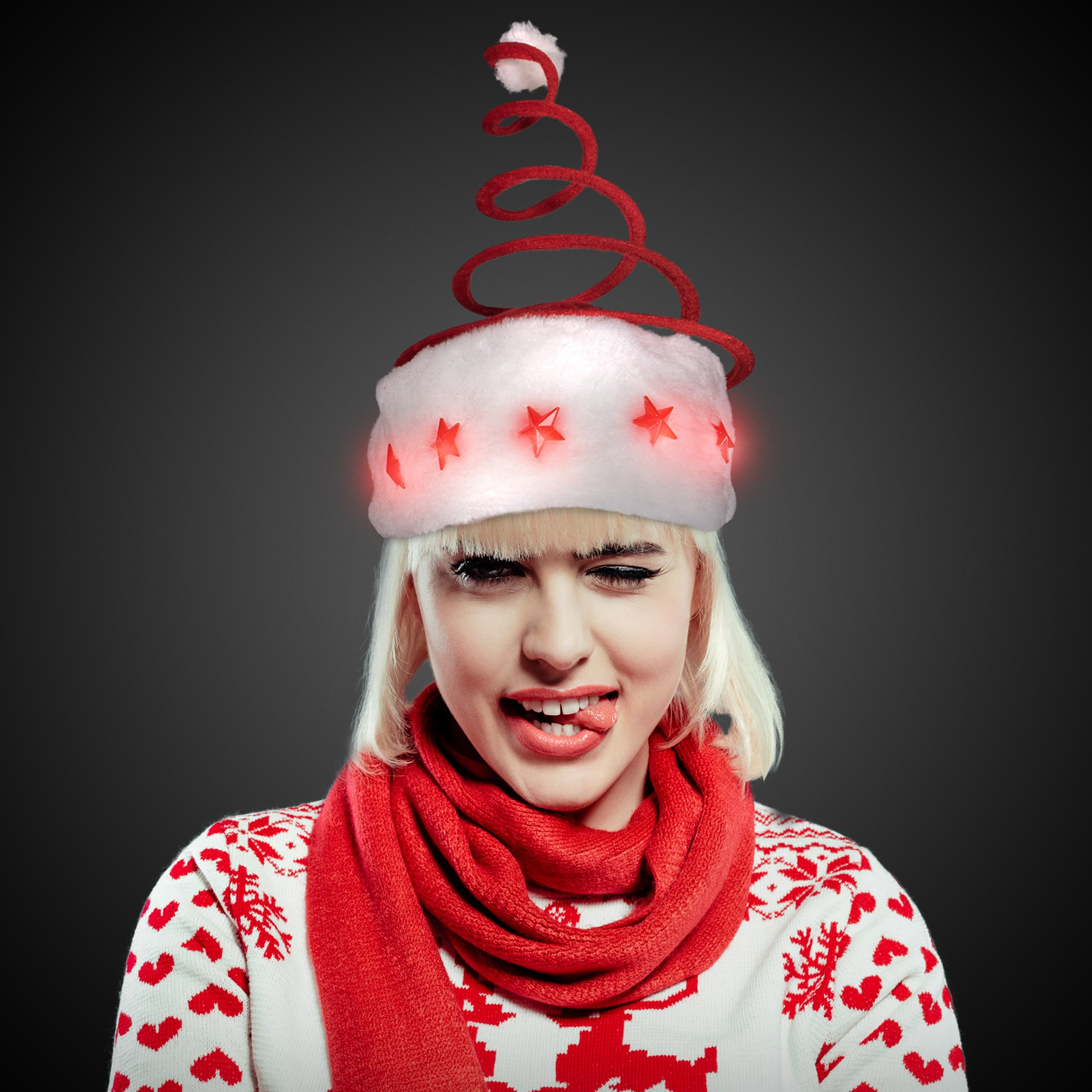 The Spring Coil Santa Hat is a perfect accessory for your Halloween costume this year. Accessorize your costume with our exclusive props, decorations, wigs and many more at Costume SuperCenter. Set your costume above the rest!