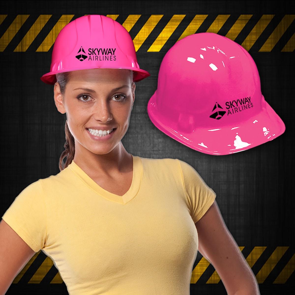 Pink Plastic Construction Hat