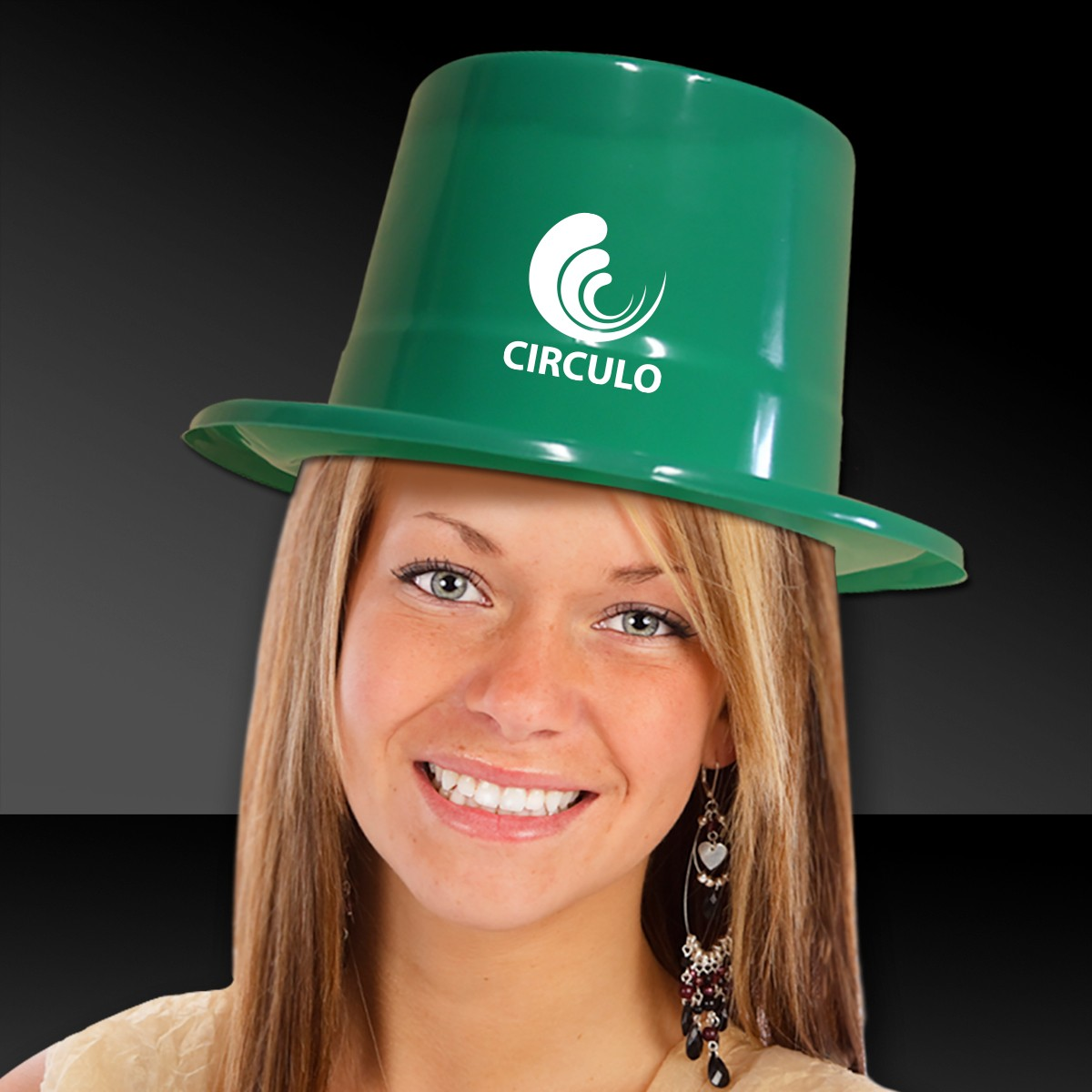 Green Plastic Top Hat
