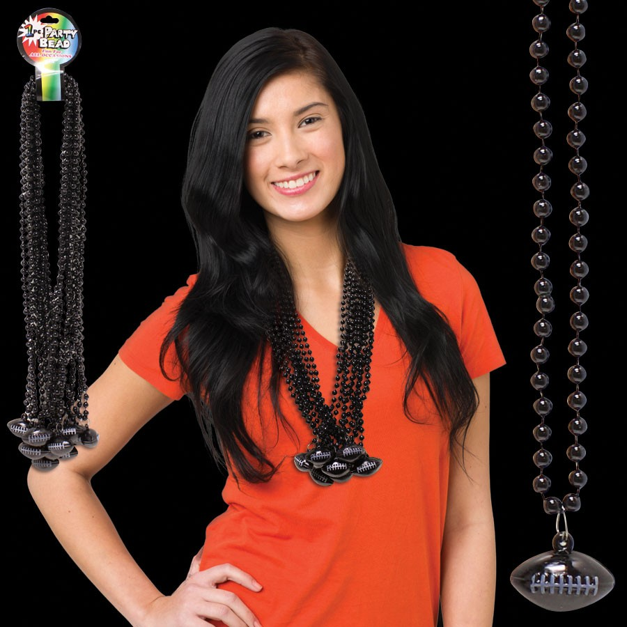 Black Football Necklace