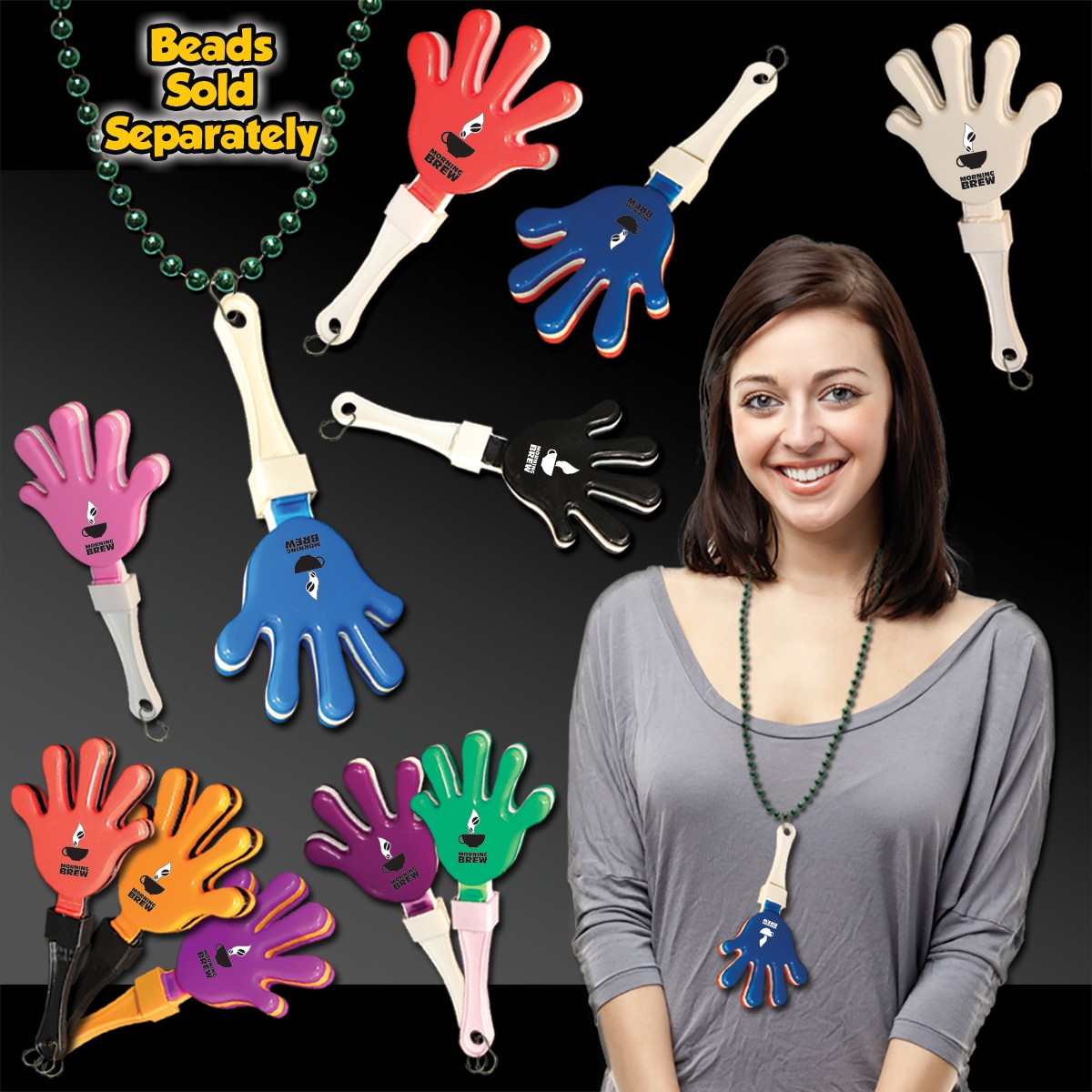 7 Inch Hand Clappers with J - Hook