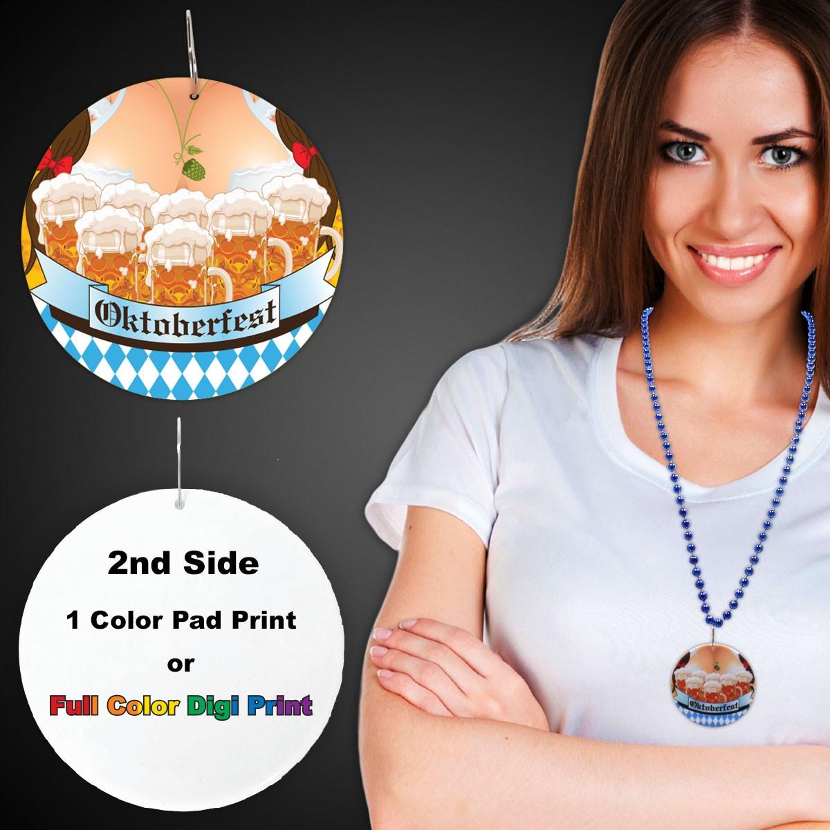 """Oktoberfest  Plastic Medallions - 2 1/2"""""""