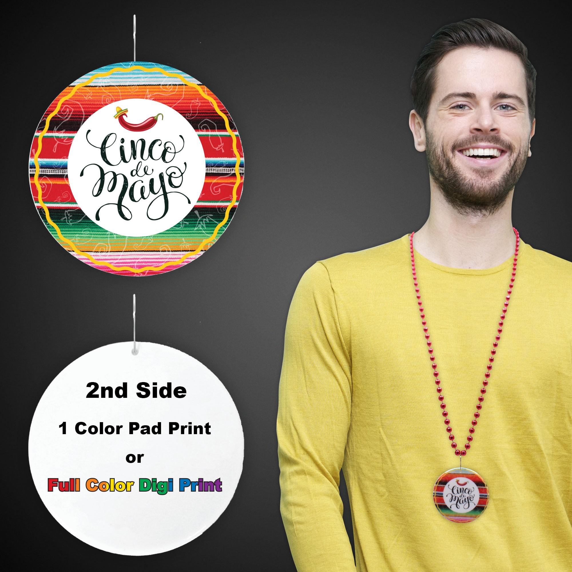 "Cinco De Mayo Plastic Medallions - 2 1/2"""