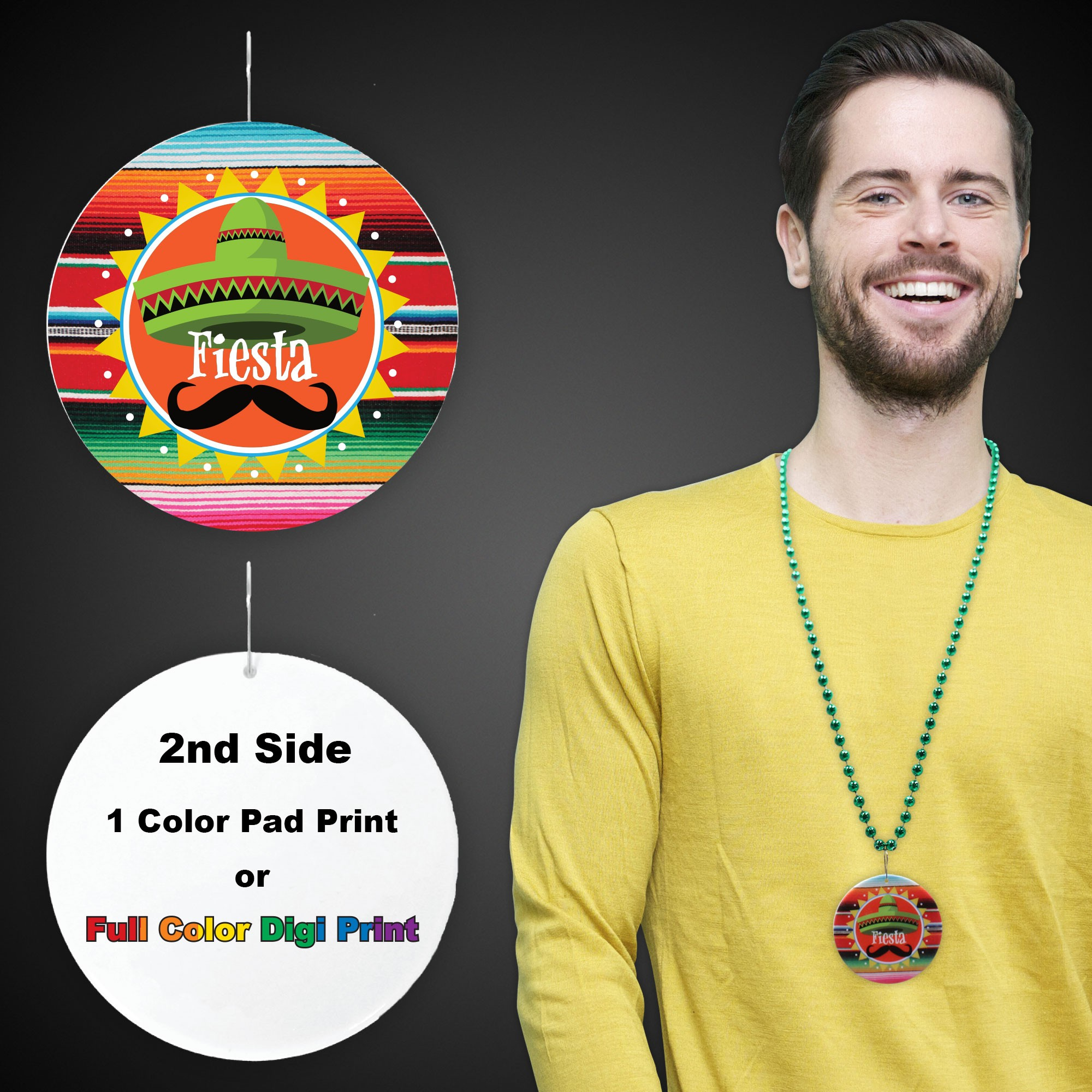"Fiesta Plastic Medallions<br>2 1/2""</br>"