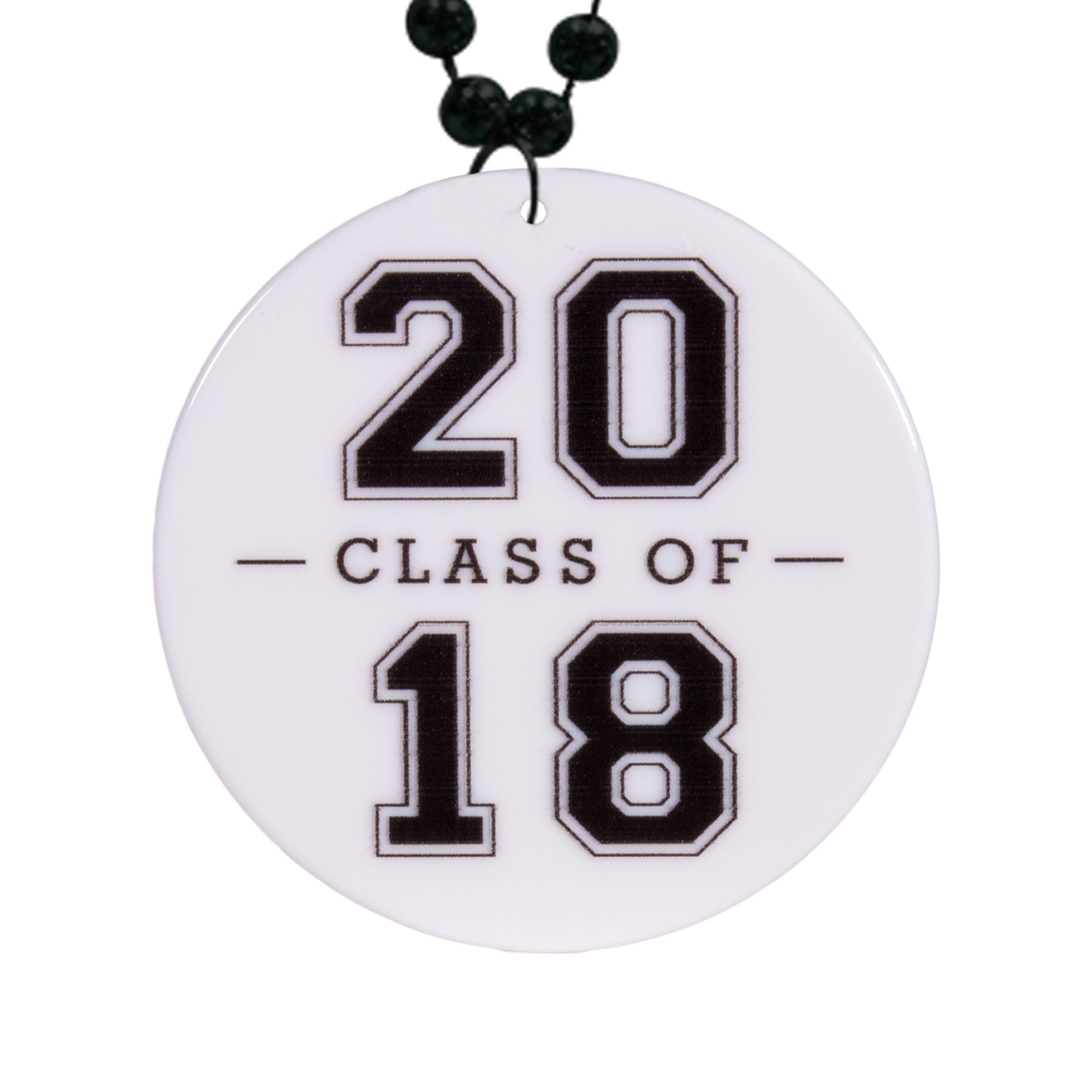 "Class of 2018 Graduation Plastic Medallions<br>2 1/2""</br>"