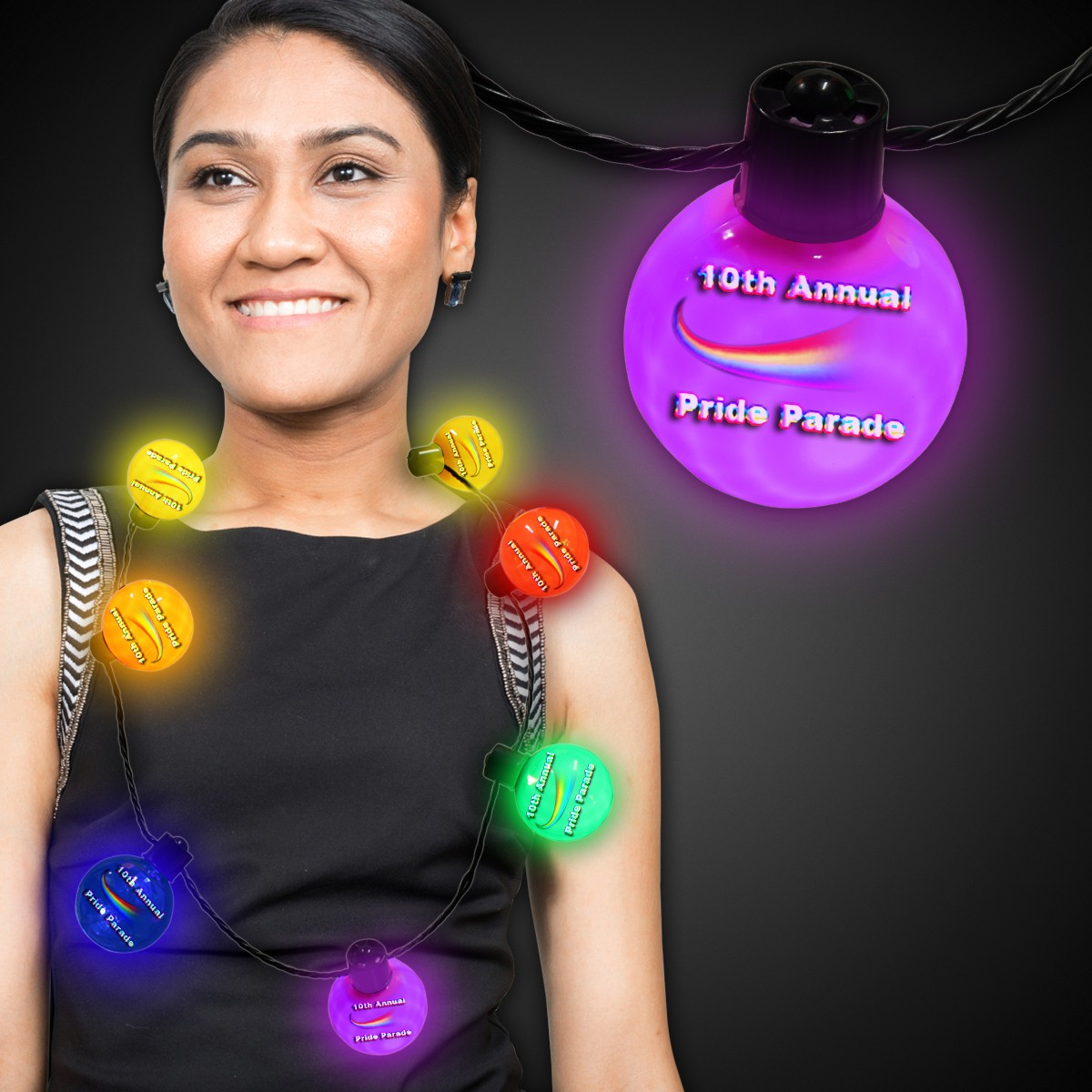 LED Ball Necklace - Variety of Colors Available