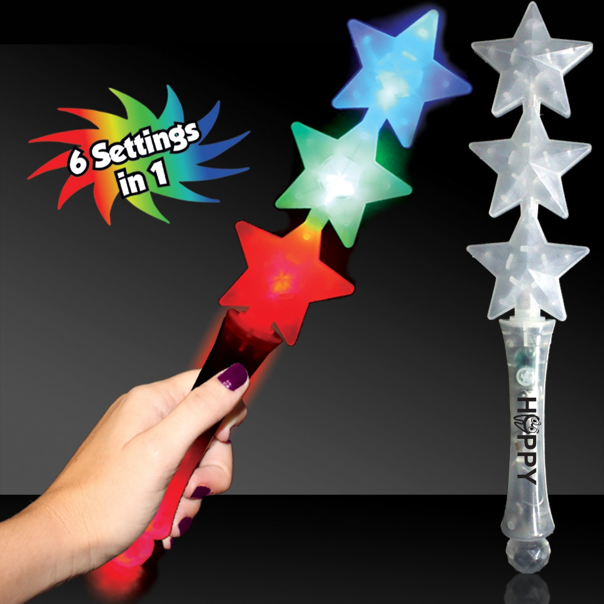 Triple Star LED Wand