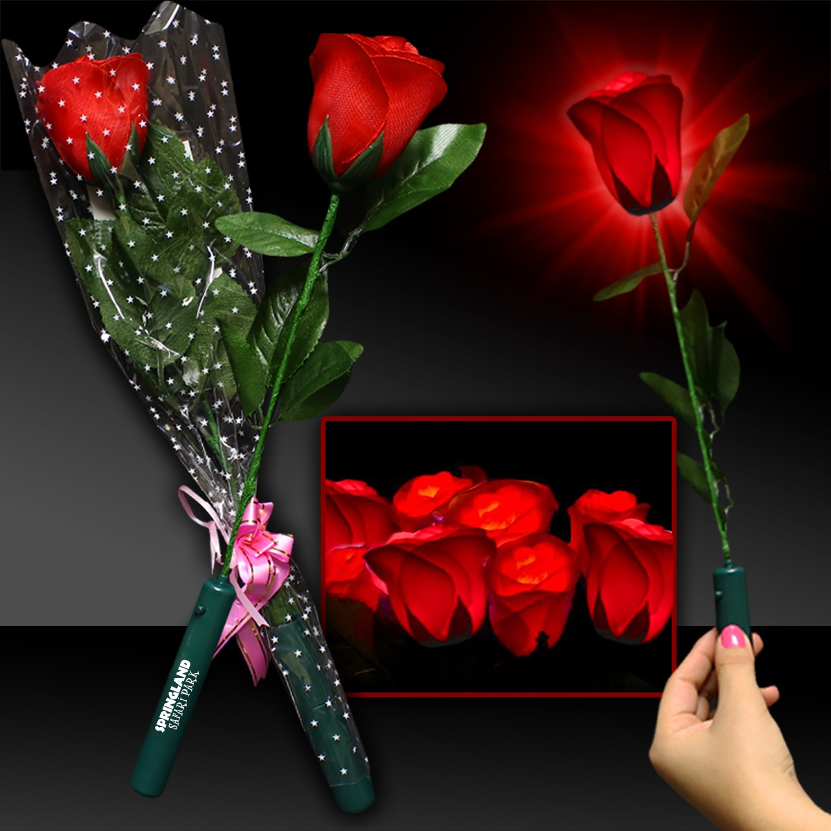 LED Red Rose
