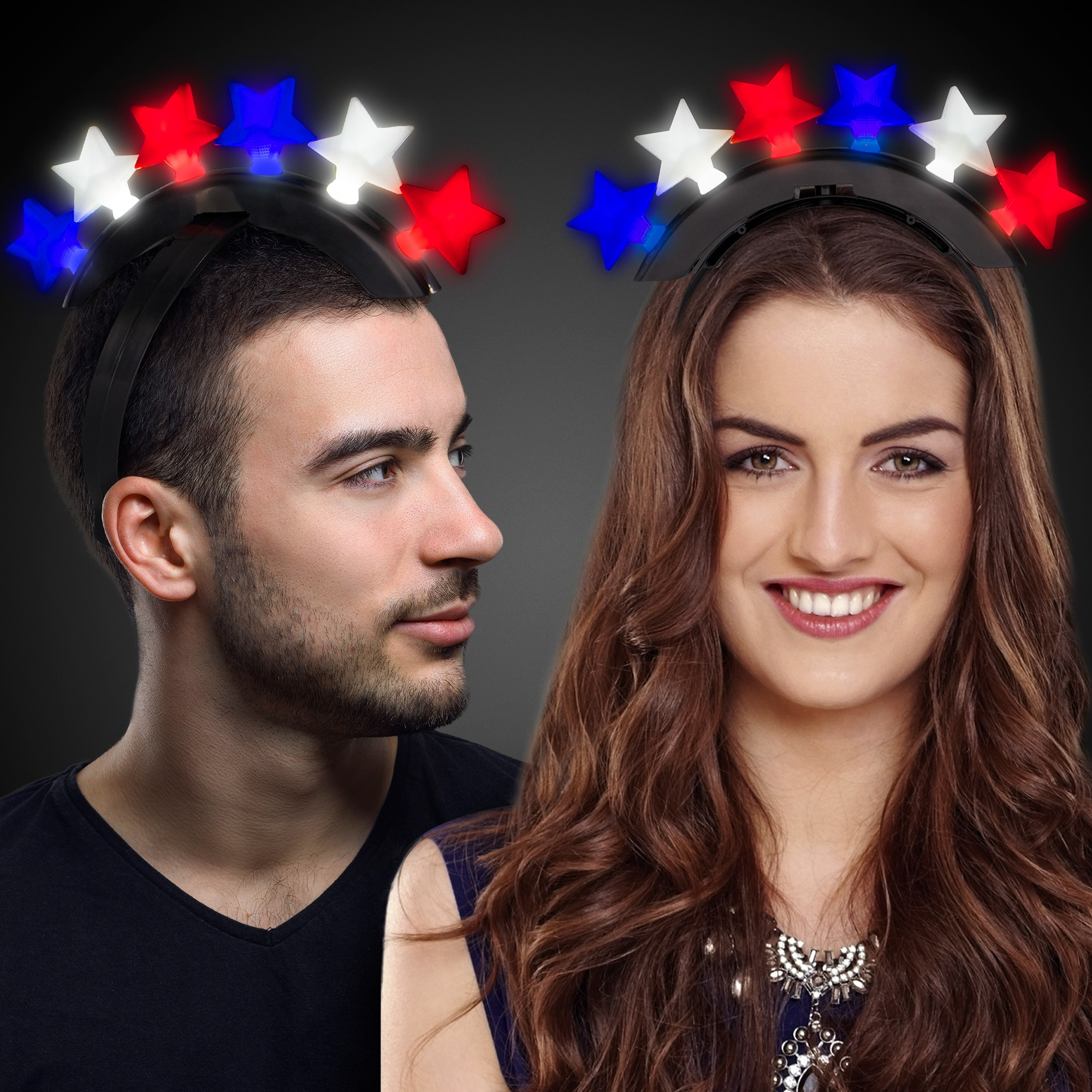 LED Patriotic Stars Headband
