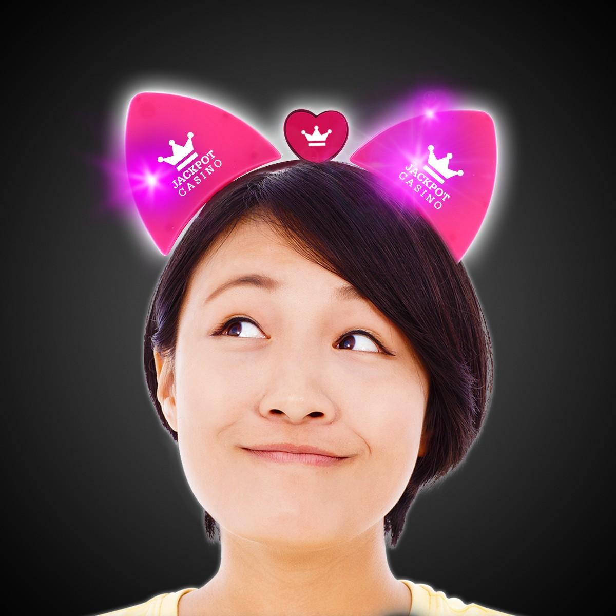 LED Pink Cat Ear Headband