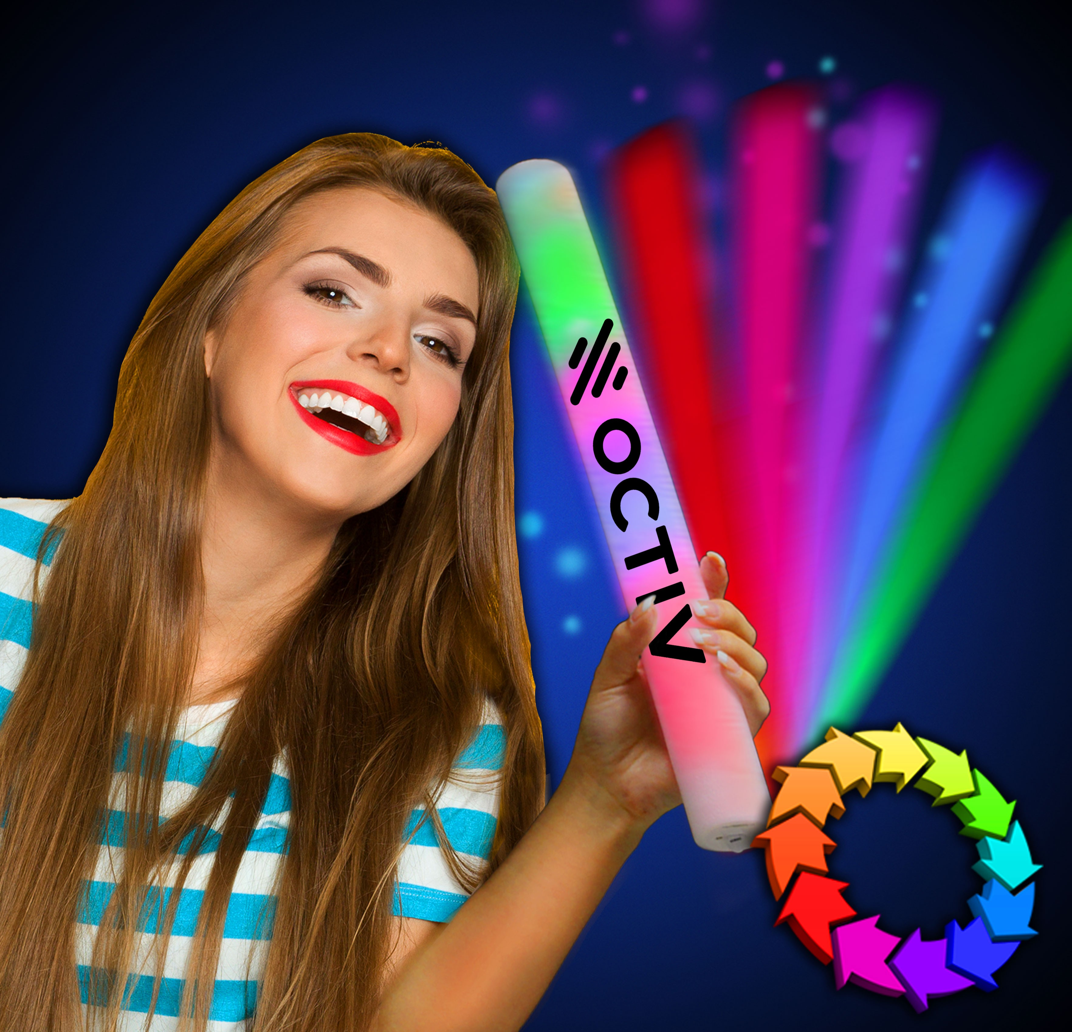 Multi Color LED 16 Inch Lumiton Batons
