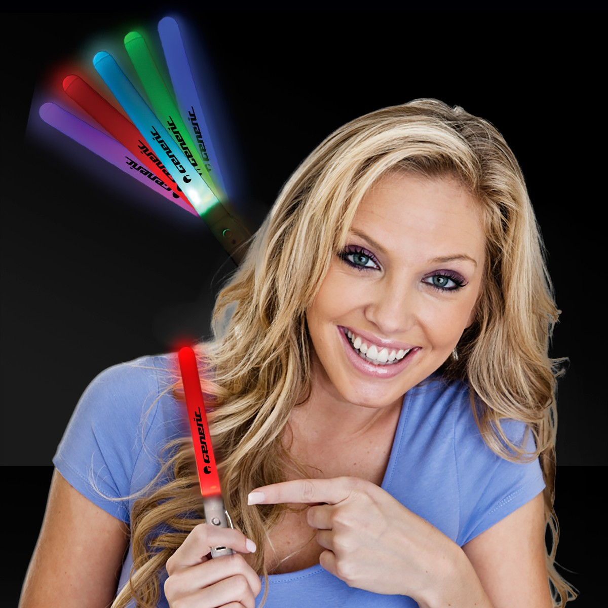 Light Up Rainbow Light Stick - 7 1/2 Inch