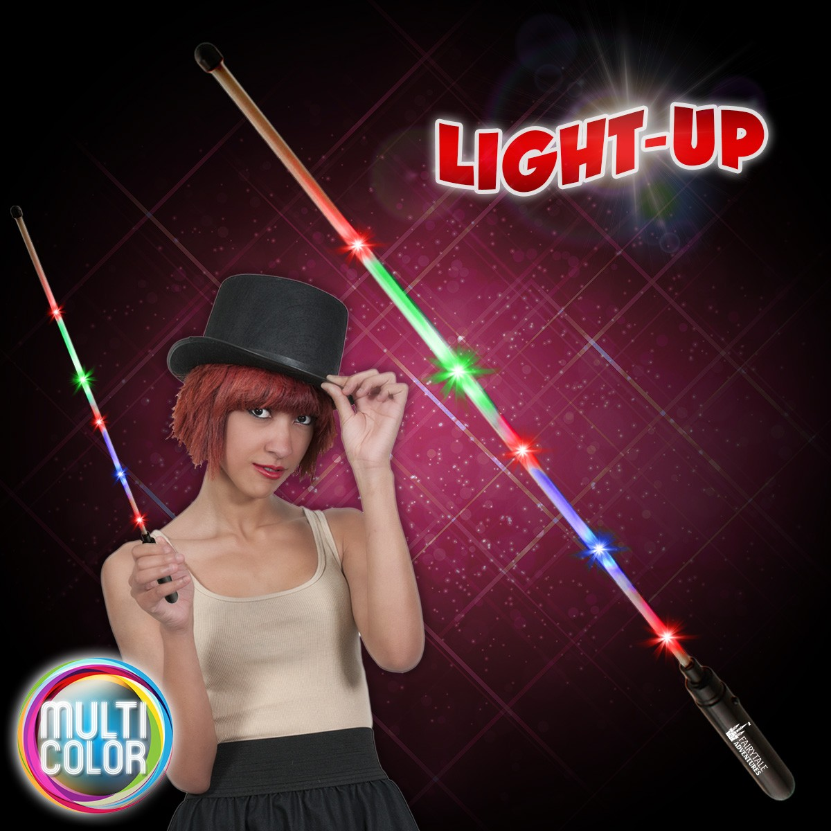 "Multi-Color LED 20""  Wand"