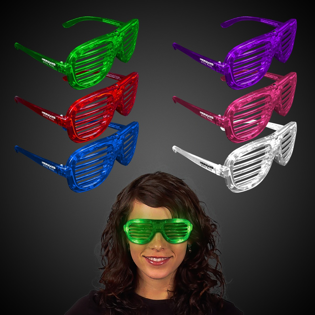 Light Up Slotted Shutter Shade Glasses