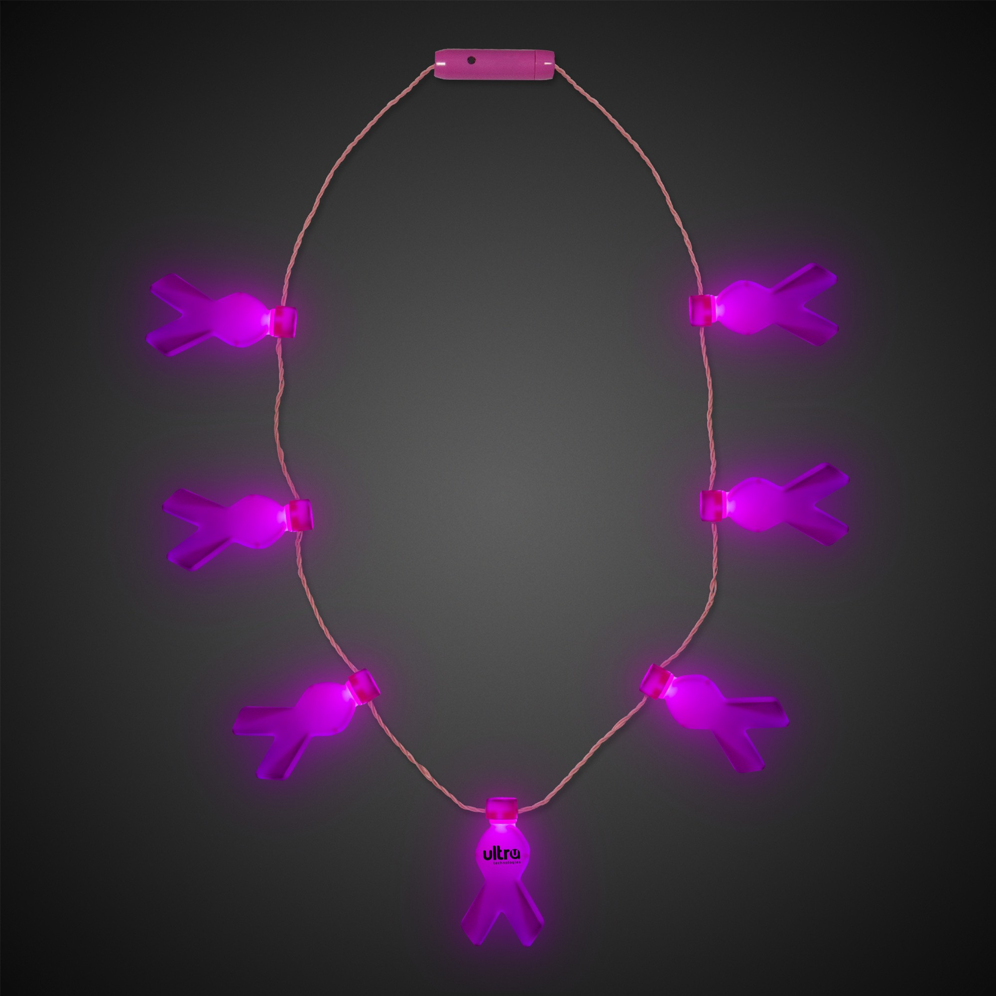 Pink Ribbon LED Necklace