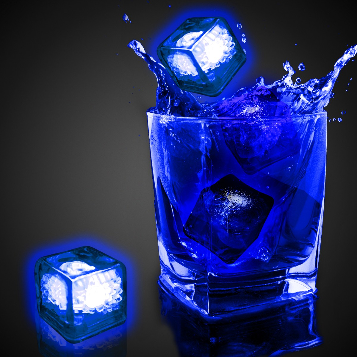 blank blue liquid activated light up ice cubes blue shop by color