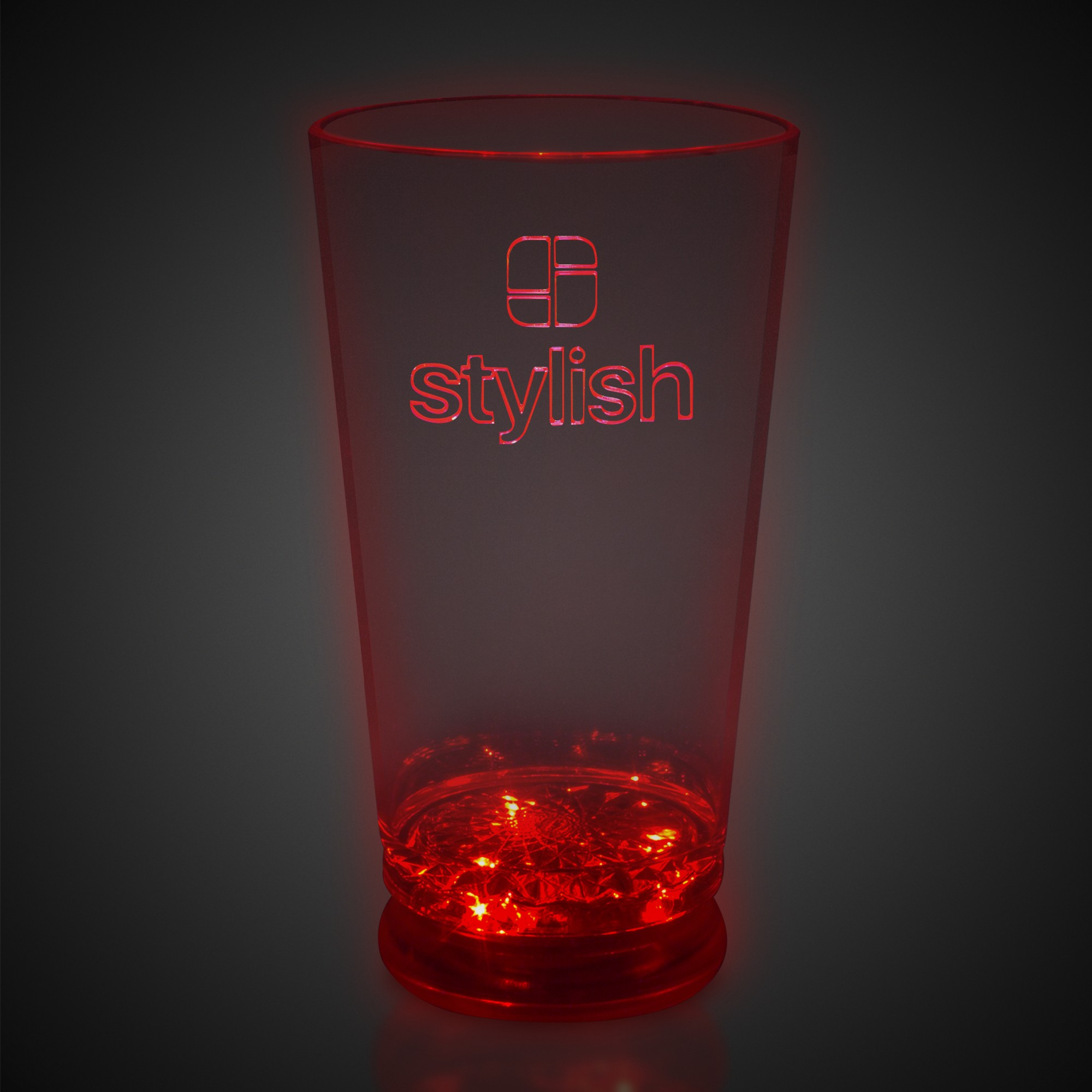 16oz Red LED Pint Glass