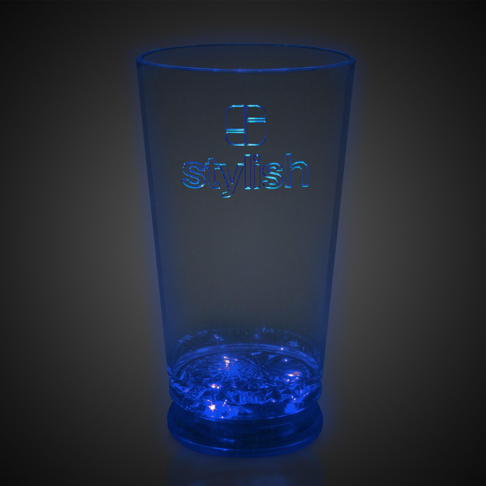 16 oz Blue LED Pint Glass