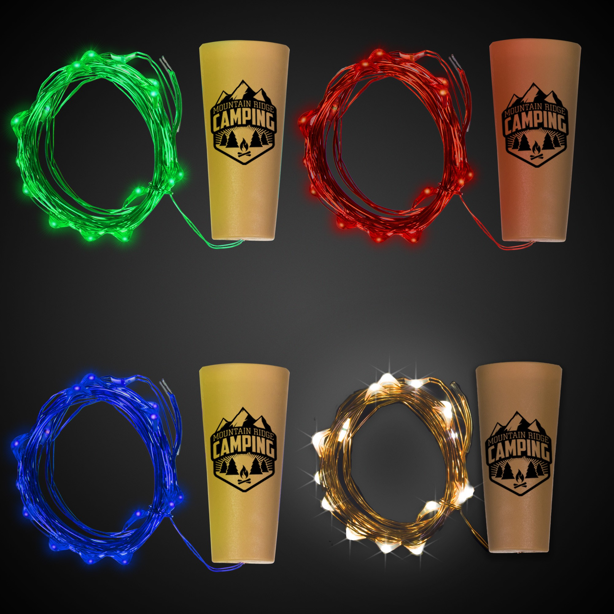 LED Cork String Light Set