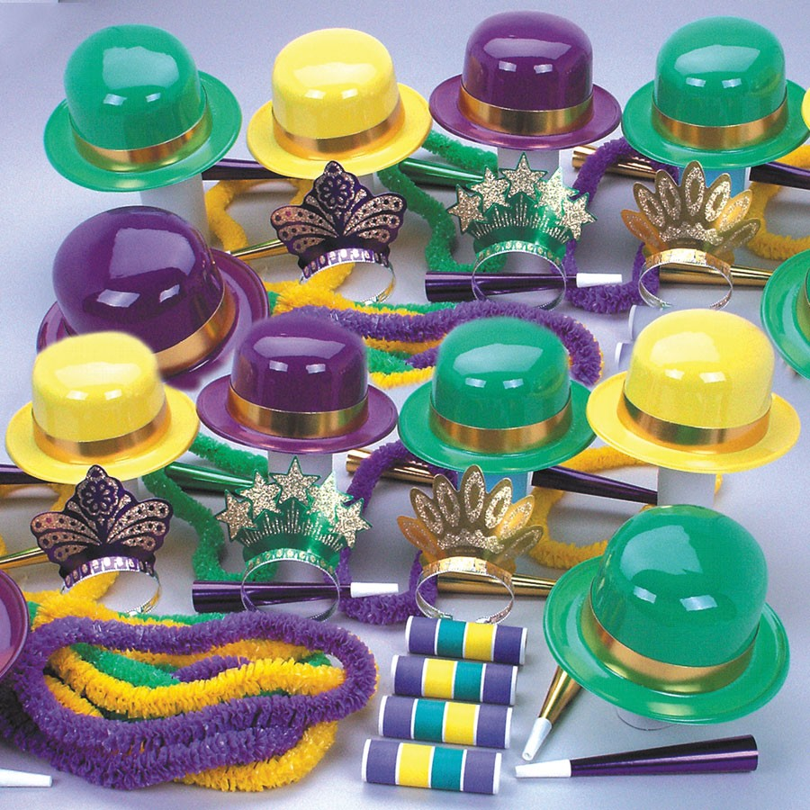 Mardi Gras Party Kit for 25 People