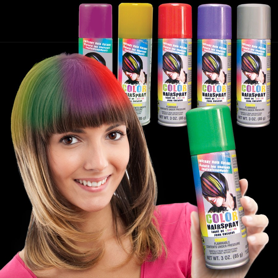 Colored hair Spray