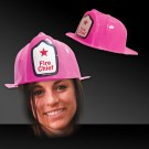 Pink Plastic Fire Fighter Hat