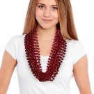 "Red 33"" 12mm Bead Necklaces"