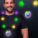 Mardi Gras LED Medallion Ball Necklace