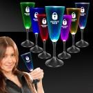 LED Champagne w/ Black Stem & Clear Top