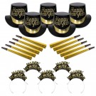 Tiffany Black & Gold new Year's Party Kit For 10
