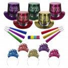 New Year's Metallic Party Kit for 10