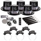 Silver and Ebony Fantasy New Year's Eve Kit for 50 People