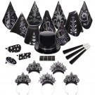 Gatsby Black & Silver New Year's Eve Kit for 50 People