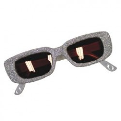 Silver Glitter Funky Glasses